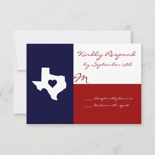 Texas Themed Red White Blue Wedding Rsvp Cards Zazzle