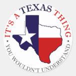 Texas Thing Classic Round Sticker