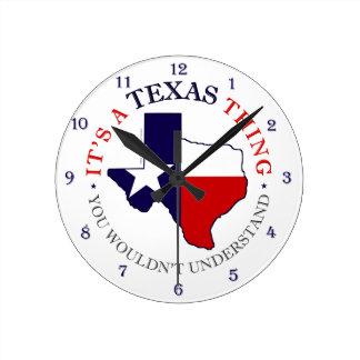 Texas Thing Wallclock