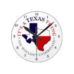 Texas Thing Round Wall Clock