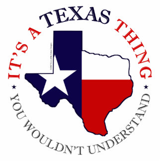 Texas Thing Standing Photo Sculpture