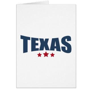 Texas Three Stars Design Greeting Card