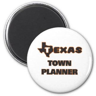 Texas Town Planner 2 Inch Round Magnet