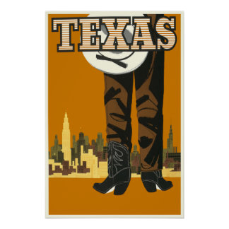 Texas Travel Poster