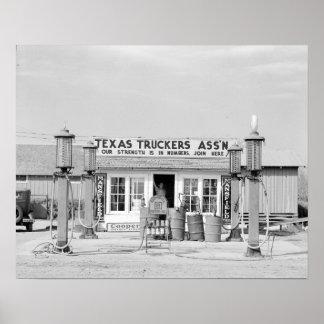 Texas Truck Stop, 1939 Print