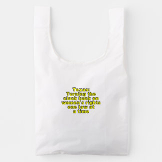 Texas: Turning the clock back on women's rights... Reusable Bag