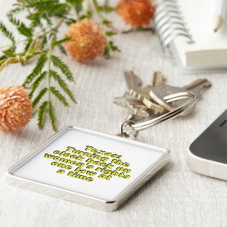 Texas: Turning the clock back on women's rights... Silver-Colored Square Keychain