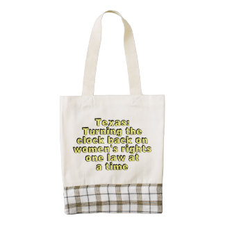 Texas: Turning the clock back on women's rights... Zazzle HEART Tote Bag