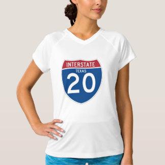 Texas TX I-20 Interstate Highway Shield - T-Shirt