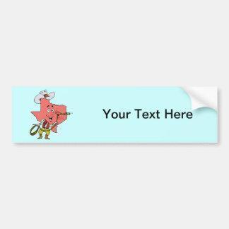 Texas TX Texan Cowboy Vintage Travel Souvenir Bumper Sticker