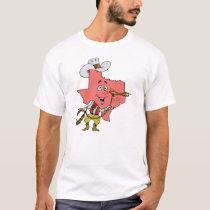 Texas TX Texan Cowboy Vintage Travel Souvenir T-Shirt