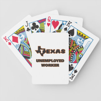 Texas Unemployed Worker Bicycle Playing Cards