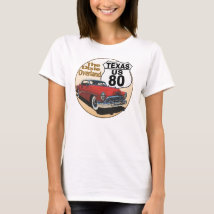 Texas US Route 80 - The Dixie Overland T-Shirt
