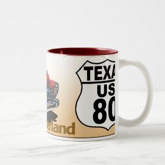 Texas US Route 80 - The Dixie Overland Two-Tone Coffee Mug