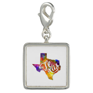 Texas US State in watercolor text cut out Dije