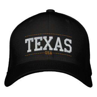 Texas USA Embroidered Zip Hats