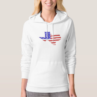 Texas USA flag silhouette state map Women's Hoodie