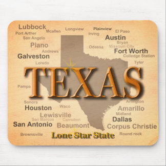 Texas Vintage Map Mouse Pad