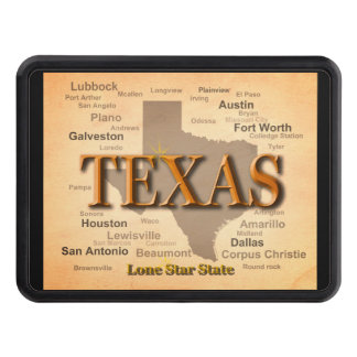 Texas Vintage Map Trailer Hitch Cover