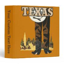 Texas Vintage Travel Poster custom binders