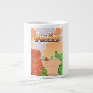 Texas Vintage Travel Poster. Large Coffee Mug
