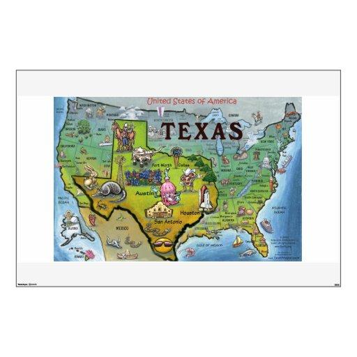 Texas vs USA Wall Decal