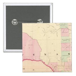 Texas W portion Pinback Button