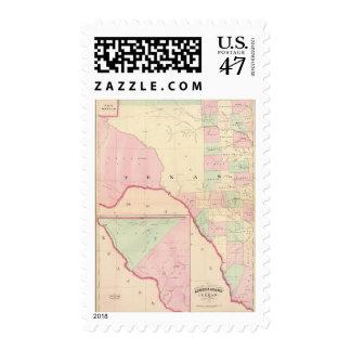Texas W portion Postage