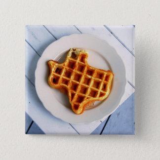Texas Waffle Pinback Button