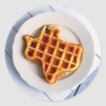 Texas Waffle Round Stickers