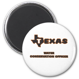 Texas Water Conservation Officer 2 Inch Round Magnet