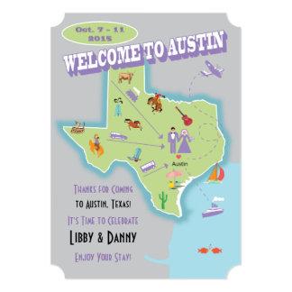 Texas Wedding Libby 5x7 Paper Invitation Card