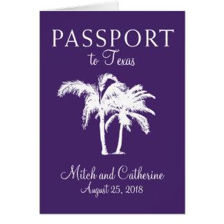 Texas Wedding Passport Invitation Cards