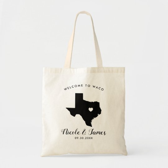 Texas Wedding Welcome Bag For Hotel Guests Tote Zazzle