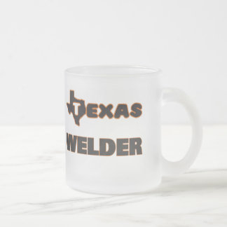 Texas Welder Frosted Glass Coffee Mug