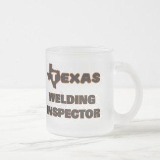 Texas Welding Inspector Frosted Glass Coffee Mug