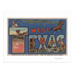 Texas (Western)Large Letter Scenes Post Card