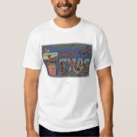 Texas (Western)Large Letter Scenes T Shirt