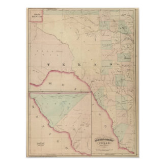 Texas, Western Portion Poster