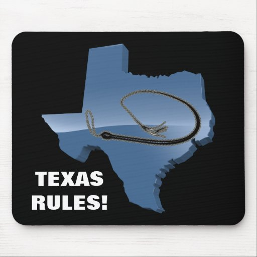 TEXAS WHIP RULES! MOUSE PAD