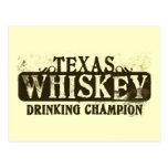 Texas Whiskey Drinking Champion Postcard