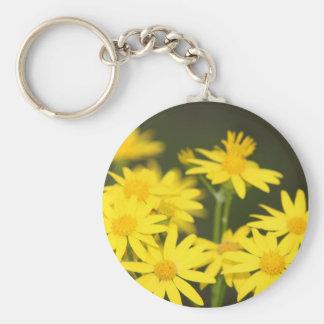 Texas Wildflower Early Spring Golden Ragwort Keychains