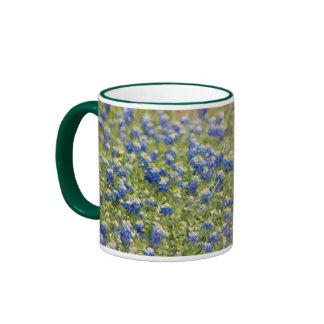 Texas Wildflowers Bluebonnets Digital Painting Ringer Mug