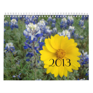 Texas Wildflowers  Calendar