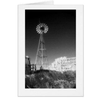 """Texas Windmill"" Card"