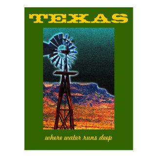 Texas Windmill Postcard