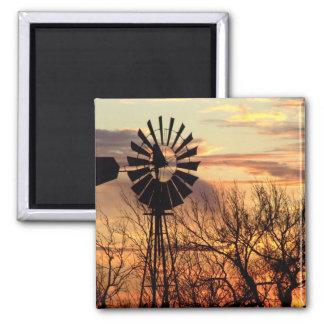 Texas windmill sunset refrigerator magnets