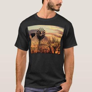Texas windmill sunset T-Shirt