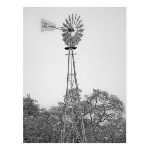 Texas windmill TNT Ranch postcard