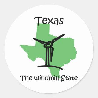 Texas windmills sticker